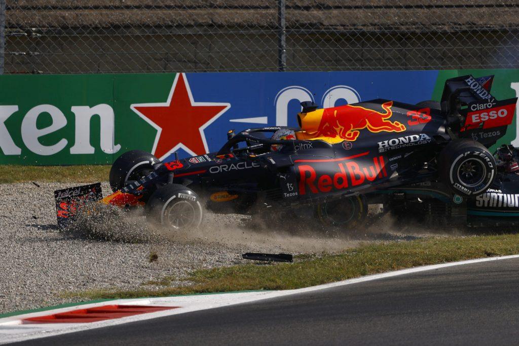 choque entre Hamilton y Verstappen en Monza